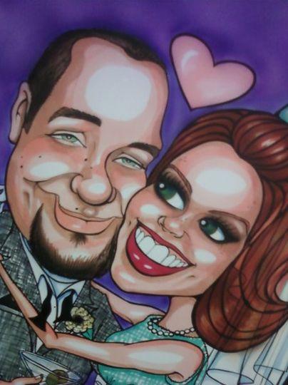 "Doug and Teresa had their reception at the Hilton, Las Vegas.  They had an ""Old Las Vegas"" theme,..."