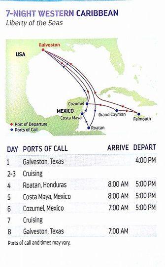 7 night western caribbean cruise from Galveston on Liberty of the Seas.