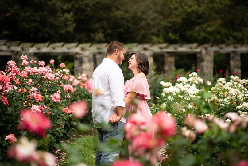 Raleigh Rose Garden Engagement