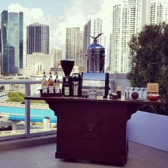 Aroma Espresso and Cappuccino Bar, brewing coffee for your next special event