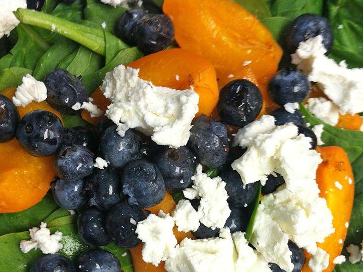 Tmx 1447107598703 Salad Spinach Peach Blueberry Lancaster wedding catering