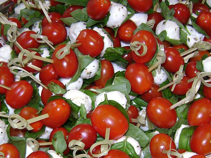 Tmx 1447108126650 Hors Speared Tomato Mozz Lancaster wedding catering