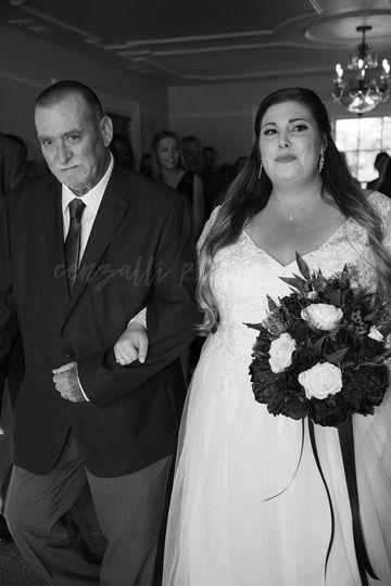 Walking his daughter down