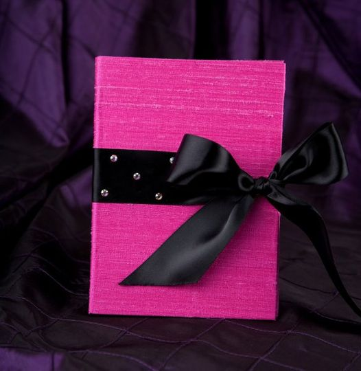 Pink and black silk wedding invitations by Pretty Peacock Paperie ~ Orlando wedding invitations
