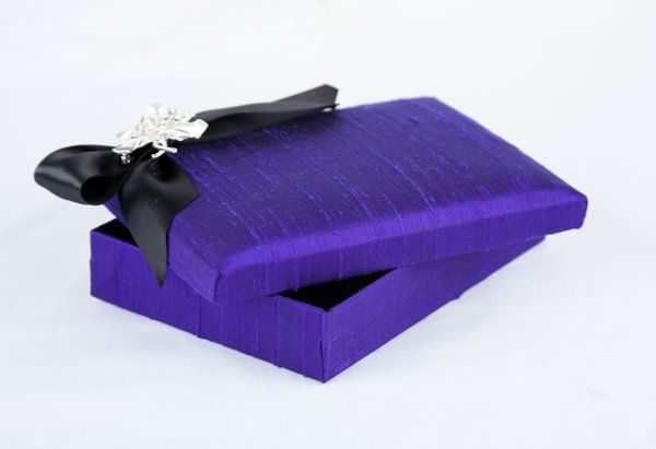 Purple embellished silk Wedding Invitations by Pretty Peacock Paperie ~ Orlando wedding invitations