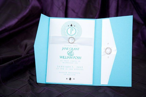 Tiffany blue pocket fold Wedding Invitations by Pretty Peacock Paperie ~ Orlando wedding invitations