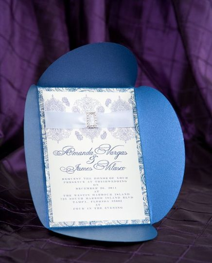 Royal blue Wedding Invitations by Pretty Peacock Paperie ~ Orlando wedding invitations