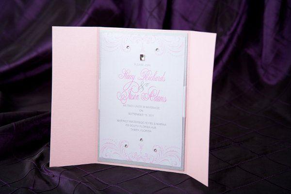 Pink gatefold Wedding Invitations by Pretty Peacock Paperie ~ Orlando wedding invitations
