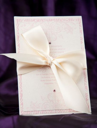 Pink and Champagne Wedding Invitations by Pretty Peacock Paperie ~ Orlando wedding invitations