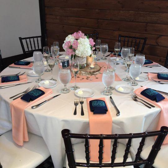 Salmon table decor