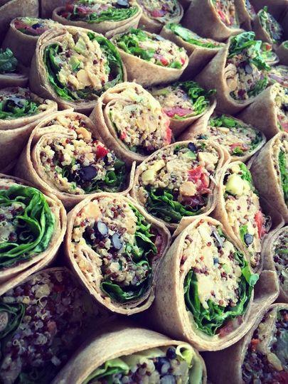 The veggie rolls