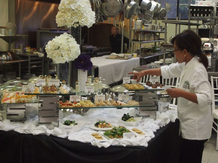 chef butler finishing touch for open house at mais