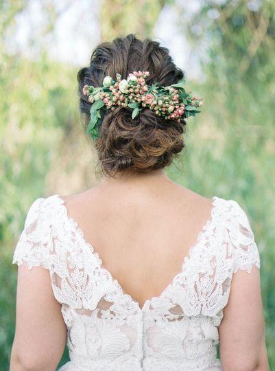 Floral headpiece | Photo Credit: Amanda Berube