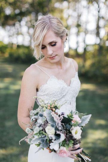 Bride and bouquet | Photo Credit Greta Tucker Photography