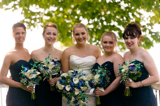 Bride and her bridesmaids' bouquets