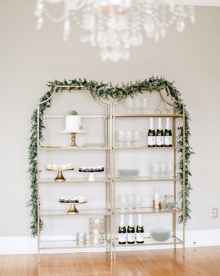 Gold and Glass Shelves