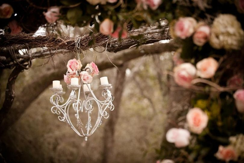 Arbor with Chandelier