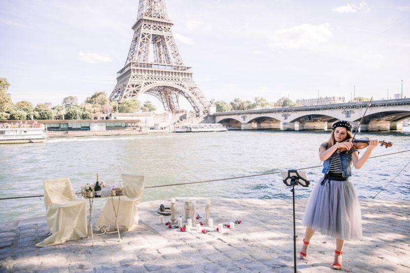 Violinist Paris Proposal