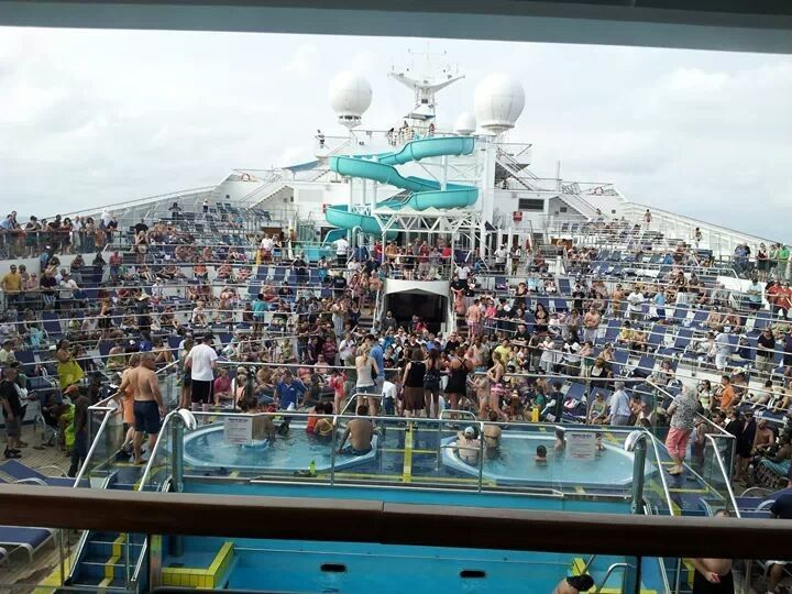 Cruise ship pool party