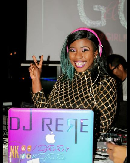 Djing a charity event
