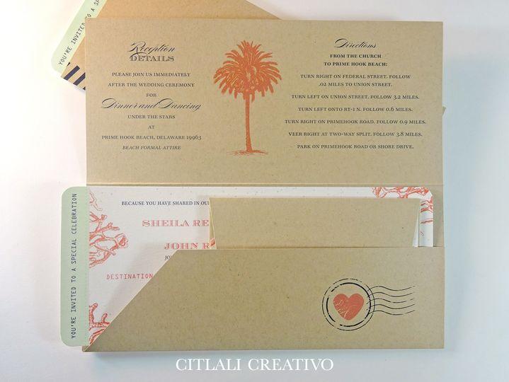 invitation boarding pass folder 4