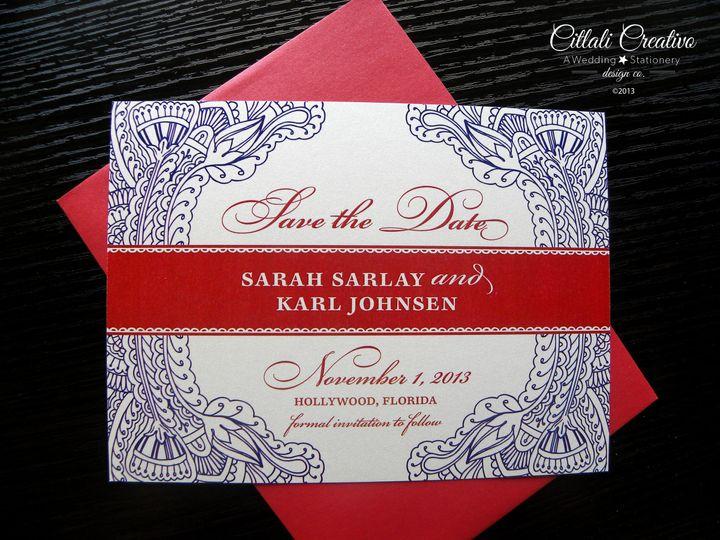 Tmx 1379452617973 0162.2 Std Mehndi Henna Red Purple 1 Seattle, WA wedding invitation