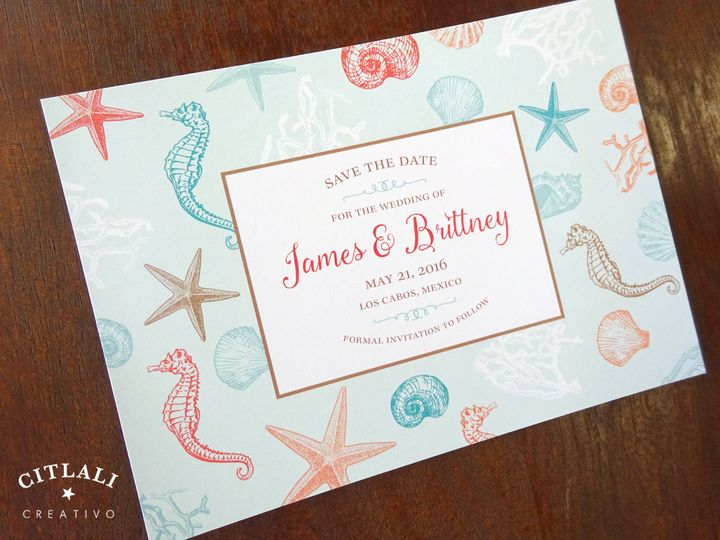 Tmx 1474944578009 1 31 Std Sea Critters Rectangle 1 Seattle, WA wedding invitation