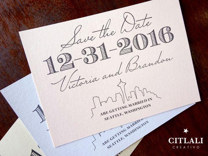 Tmx 1474944679467 1 51 Std Modern Seattle Script Skyline 1 Seattle, WA wedding invitation