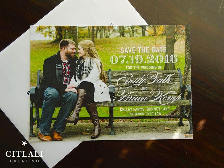 Tmx 1474944886824 1 64 Std Couple Photo 2 Seattle, WA wedding invitation