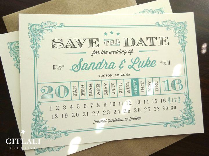 Tmx 1474944977746 1 66 Std Vintage Flourish Number Calendar 1 Seattle, WA wedding invitation