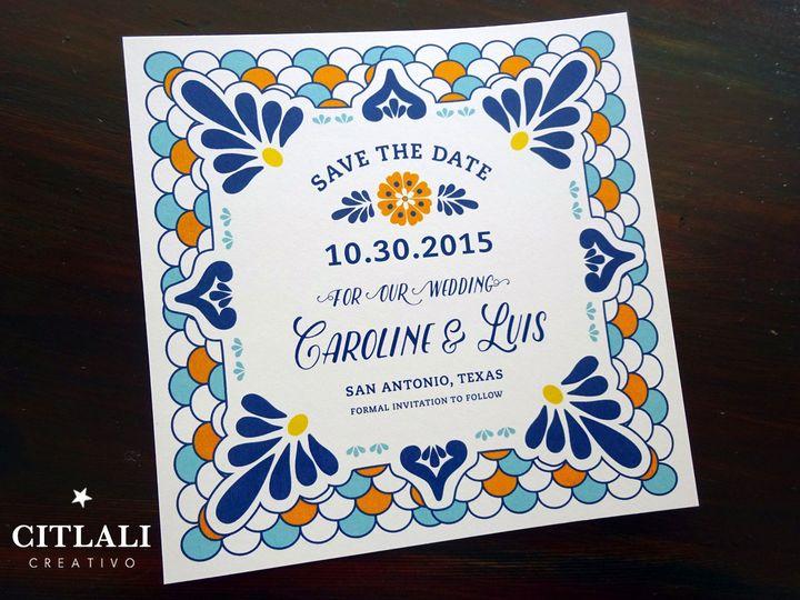 Tmx 1474944978720 1 65 Std Talavera Square Tile 2 Seattle, WA wedding invitation