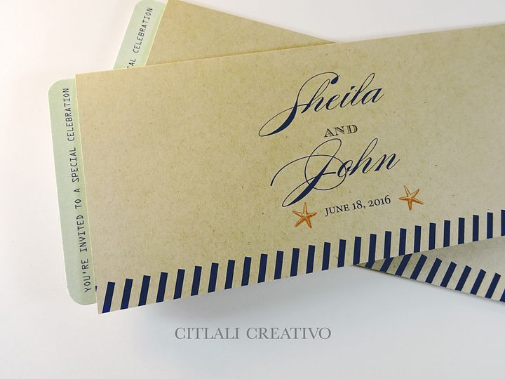 Tmx 1490728292069 0177 Invitation Boarding Pass Folder 2 Seattle, WA wedding invitation