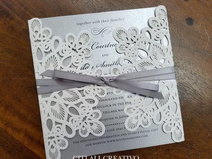 Tmx 1534288645 6eacbb9410bf4acf 1534288644 37c045961ace1c53 1534288639733 6 05 Laser Square Pe Seattle, WA wedding invitation