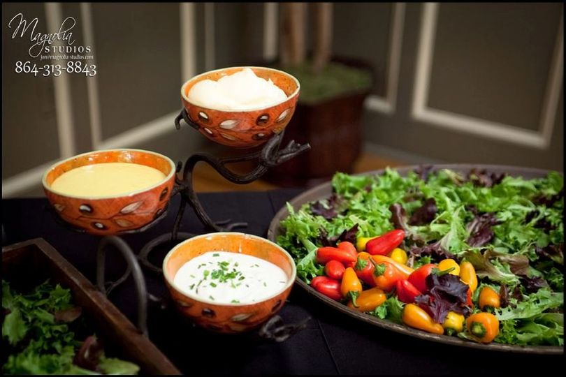 Soups and healthy food selection