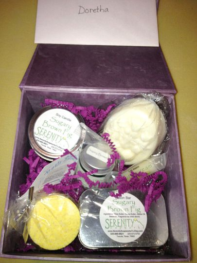 Individualized Custom gift box #1 for shower host