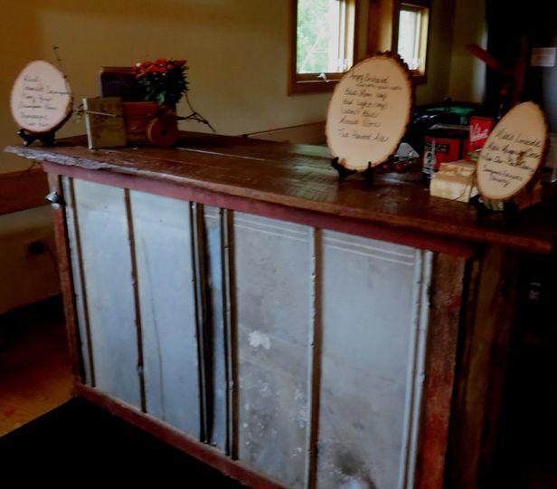 Vintage Tin bar