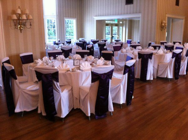 Whitechaircover with black satin sash   @berkshirecountryclub