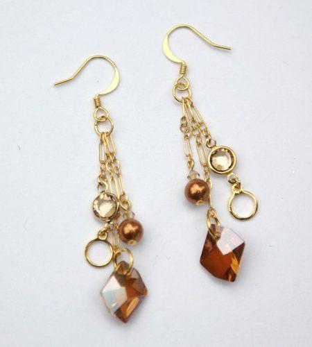 Custom Bridesmaid Earrings - Swarovski Crystals and Pearls