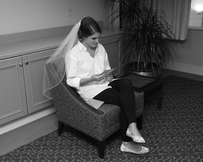 Reading the groom's letter