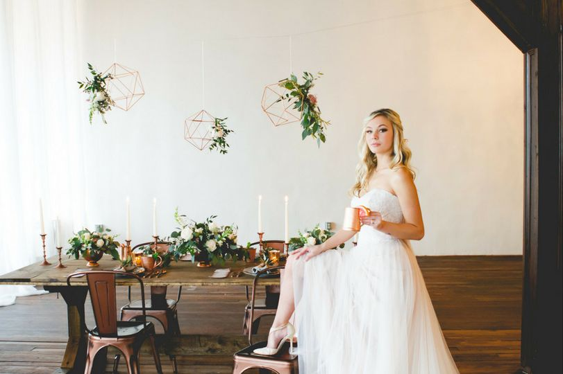 Inspired by a wedding palette of copper and pale pink, this Georgia wedding inspiration shoot was...