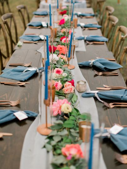 Outdoor Tent Reception at Sandy Creek Barn