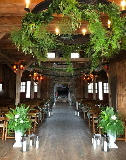Ready for the ceremony at Sandy Creek Barn
