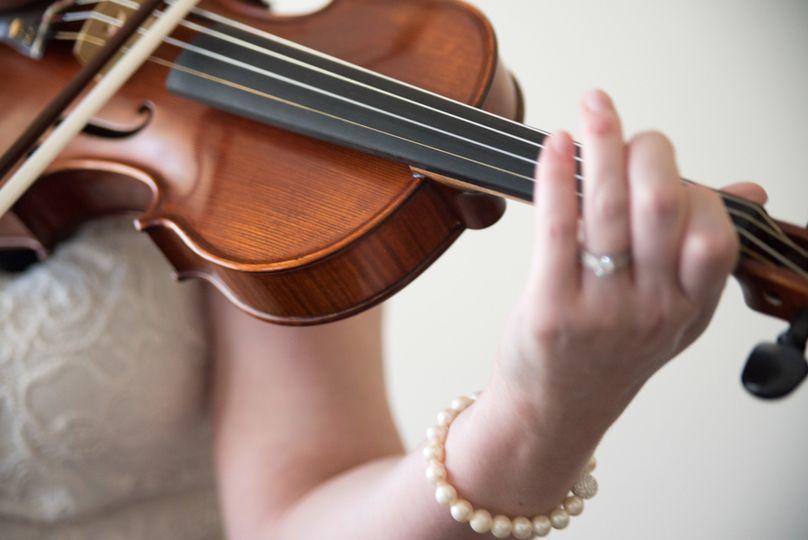 Violin being played