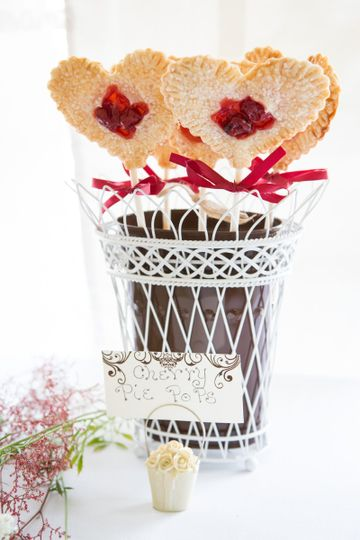 How adorable are these!! Cherry pie pops for your sweets table. Have many flavors to choose from!