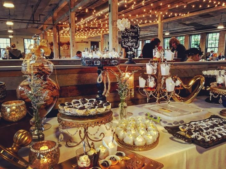 This beautiful Sweets Table can be yours! This was at the historic Journeymen Distillery in Three...
