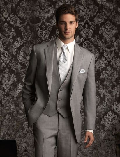 Jean Yves heather grey allure 2 button notch tuxedo