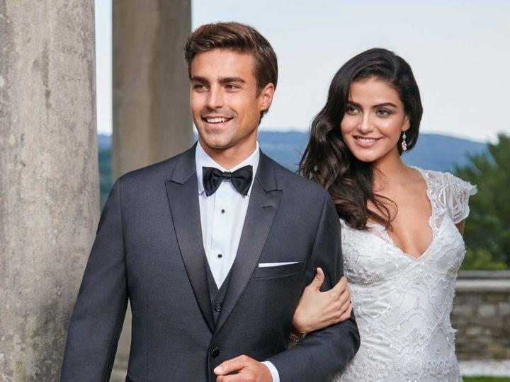 Tmx Ike Behar Slim Fit Charcaol Grey Xavier Tuxedo 51 122270 Ridgewood, New Jersey wedding dress