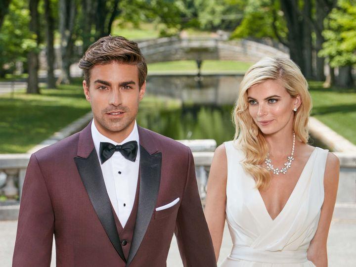 Tmx Ike Behar Slim Fit Maroon Marbellatuxedo 51 122270 Ridgewood, New Jersey wedding dress