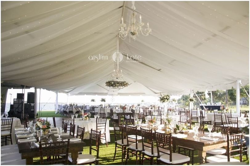 Elaborate tent setup