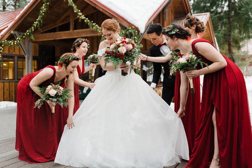 Christmas wedding in Leavenwor